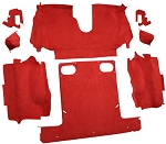 C4 Corvette 1986-1989 Convertible Carpet Set Cut Pile - Rear With Pad Options