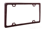 Thin Red Carbon Fiber License Plate Frame
