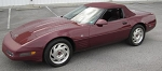 C4 Corvette 1993 Convertible Top - Ruby Red Original Stayfast