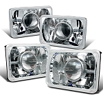 C4 Corvette 1984-1996 Crystal Clear Headlight Lenses - Diamond Cut or Projector Styles - Pair