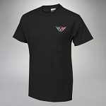 C5 Corvette 1997-2004 Pocket T-Shirt with Embroidered Logo