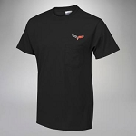 C6 Corvette 2005-2013 Pocket T-Shirt with Embroidered Logo