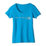 C7 Corvette Stingray 2014+ Ladies Scoop Neck T-Shirt With Script - Color Options