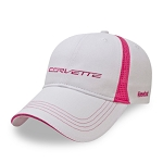 C7 Corvette 2014+ Ladies Reebok Cap - White & Pink