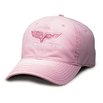 C6 Corvette 2005-2013 Ladies Pink Crossed Flags Cap