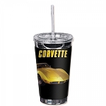 C3 Corvette 1968-1982 Yellow Corvette 16oz To Go Cup