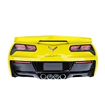 C7 Corvette Stingray 2014+ Rear End Wall Decor w/ Working Lights - Yellow