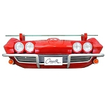 C2 Corvette 1963 Front End Wall Shelf w/ Working Lights - Red
