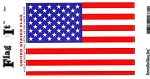 C2 C3 C4 C5 C6 C7 Corvette 1963-2014+ Heavy Duty Vinyl American Flag Decal - 3in x 5in