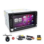 In-Dash Rear Backup Camera & DVD Receiver w/ 6.2 Inch Display & Bluetooth