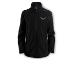 C7 Corvette 2014+ Ladies Softshell Jacket w/ Full Color Logo