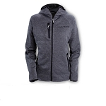 C7 Corvette 2014+ Ladies Hooded Jacket w/ Corvette Script - Dark Ash Gray/Black