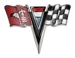 C2 Corvette 1963-1967 Crossed Flags Nose Emblems