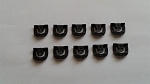 C2 C3 Corvette 1964-1971 Windshield & Back Glass Reveal Molding Clips - 10pc