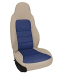 C6 Corvette 2005-2011 Two-Tone Leather Seat Covers