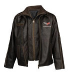 C3 C4 C5 Corvette 1968-2004 Racer Heavy Weight Leather Jacket - Regular