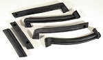 C4 Corvette 1986-1996 Weatherstrip Convertible Top Roof Rails - 6pc Set