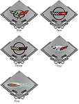 C4 C5 Corvette 1984-2004 Metal Carbon Fiber Style Signs