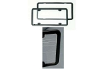 C3 C4 C5 C6 Corvette 1953-2012 Clean License Plate Frame - Plastic
