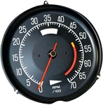 C3 Corvette 1975-1977 Tachometer - Redline Options