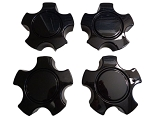 C5 C6 Corvette 1997-2013 Z06 Black Replica Wheel Center Caps Set (4)