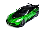 C7 Corvette Stingray 2014+ Crosshairs Transformers Diecast Model - Green