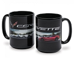 C1 C2 C3 C4 C5 C6 C7 Corvette 1953+ Generations Coffee Mug