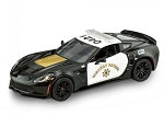 C7 Corvette Z06 2015 Highway Patrol Die Cast Model - 1:24 Scale
