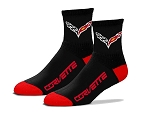 C7 Corvette 2014-2019 Team Color Quarter Crew Sock