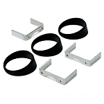 Angled Gauge Rings - 3pc Set - Black - 2 Size Options