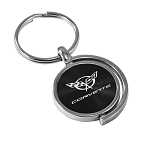 C5 Corvette 1997-2004 Two Sided Swivel Spinner Key Chain/Fob - Multiple Color Selections