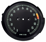 C2 Corvette 1965-1967 Tachometer Faces