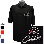 C2 Corvette 1963-1967 Embroidered Performance Polo - 4 Color Options
