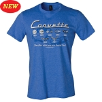 C2 C3 C4 C5 C6 C7 Corvette 1963+ Time Flies T-Shirt