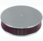C2 C3 Corvette 1963-1982 Smooth Round Top 14in Air Cleaner - Multiple Finishes Available