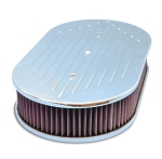 C2 C3 Corvette 1963-1982 Oval Ball Mill Top 17in Air Cleaner for Dominator Carburetors - Multiple Finishes Available