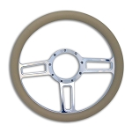 C2 C3 C4 Corvette 1963-1996 Launch Billet Steering Wheel - Multiple Finishes and Grip Colors Available