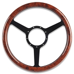 C2 C3 C4 Corvette 1963-1996 Symmetrical Steering Wheel with Woodgrain Grip - Multiple Finish Options Available