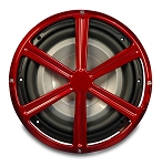 Billet Aluminum 12in Wheel Style Sub Woofer Grill - Multiple Finishes Available