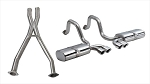 C5 Corvette Base / Z06 1997-2004 Corsa Performance Sport Cat-Back Exhaust System w/ Twin 3.5in Polished Tips