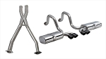 C5 Corvette Base / Z06 1997-2004 Corsa Performance Sport Cat-Back Exhaust System w/ Twin 3.5in Black PVD Tips