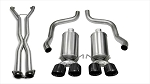 C6 Corvette 2006-2008 Corsa Performance Xtreme Cat-Back Exhaust System w/ Twin 3.5in Black PVD Tips - Auto A6 Transmission ONLY