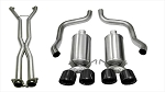 C6 Corvette 2009-2013 Corsa Performance Xtreme Cat-Back Exhaust System w/ Twin 3.5in Black PVD Tips