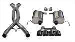 C7 Corvette Stingray/Grand Sport 2014-2018 Corsa Performance Sport Valve-Back + X-Pipe Exhaust System w/ Quad 4.5in Black PVD Tips