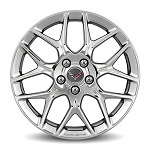 C7 Corvette Stingray 2014-2019 GM 7 Spoke Polished Aluminum Wheels w/ Laser Etched Corvette Script - 19 x 8.5/20 x 10