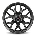 C7 Corvette Stingray 2014-2019 GM 7 Spoke Gloss Black Aluminum Wheels - 19 x 8.5 / 20 x 10