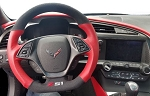 C7 Corvette Stingray/Z06/Grand Sport 2014+ Black Suede D Shape Steering Wheel w/ Adrenaline Leather - Logo Selection