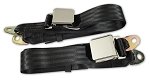 C2 Corvette 1963-1967 Chrome Lift Buckle Seat Belts - Sold as a Pair