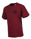 C3 Corvette 1968-1982 Splat T-Shirt - Burgundy