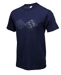C3 Corvette 1968-1982 Splat T-Shirt - Navy Blue